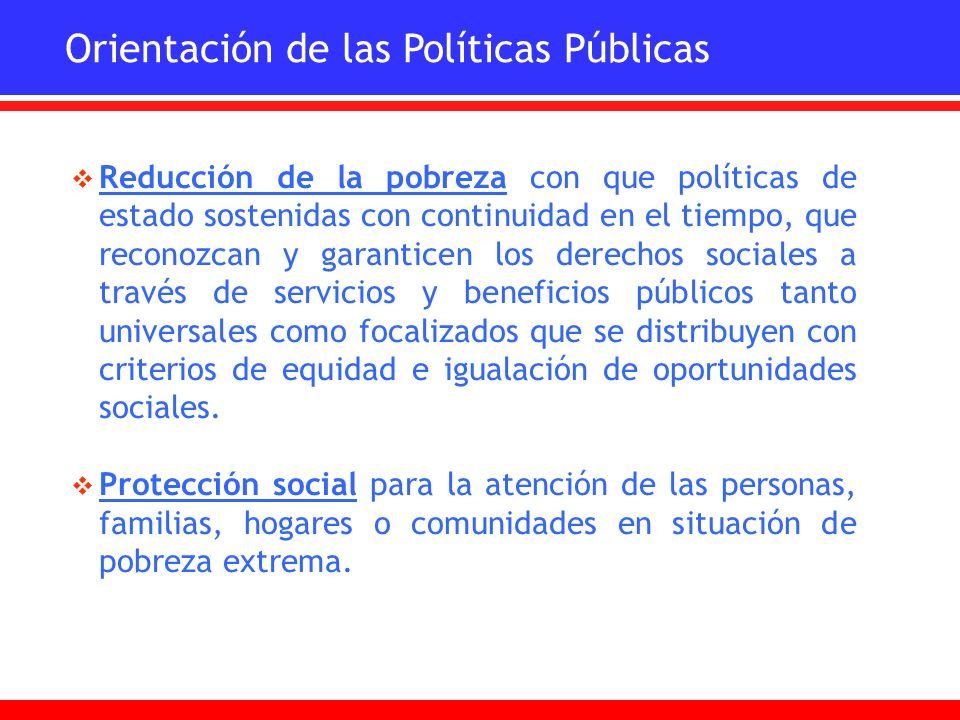 Orientación de las Políticas Públicas