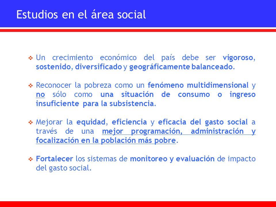 Estudios en el área social