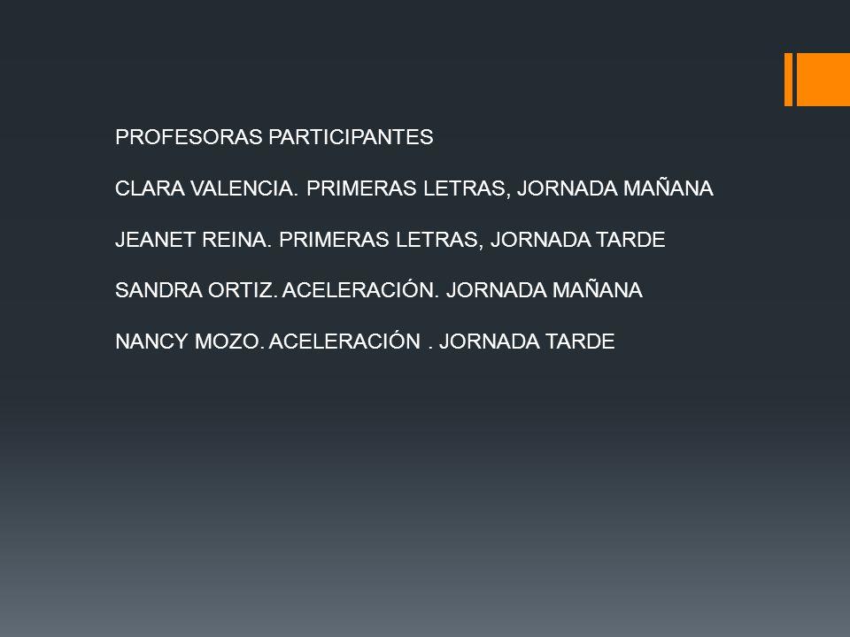 PROFESORAS PARTICIPANTES