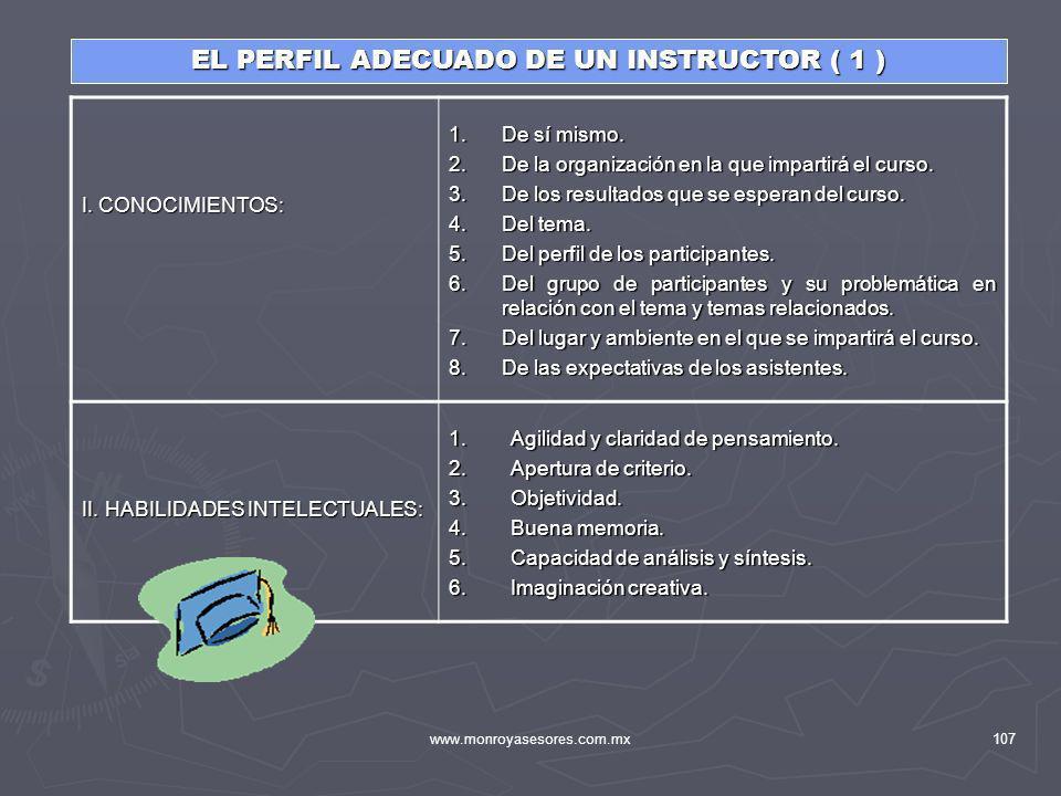 EL PERFIL ADECUADO DE UN INSTRUCTOR ( 1 )