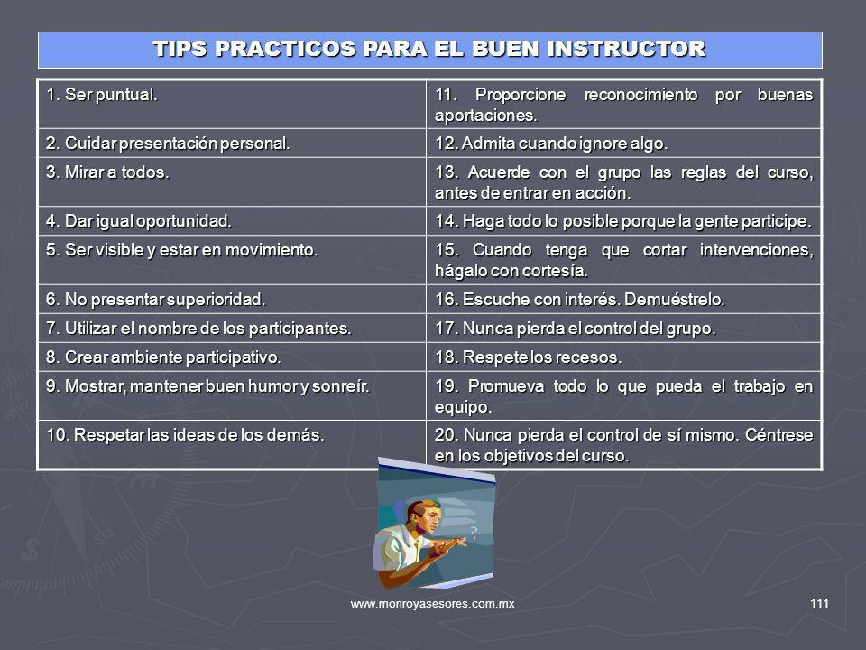 TIPS PRACTICOS PARA EL BUEN INSTRUCTOR