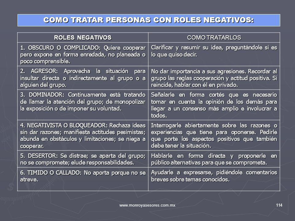 COMO TRATAR PERSONAS CON ROLES NEGATIVOS: