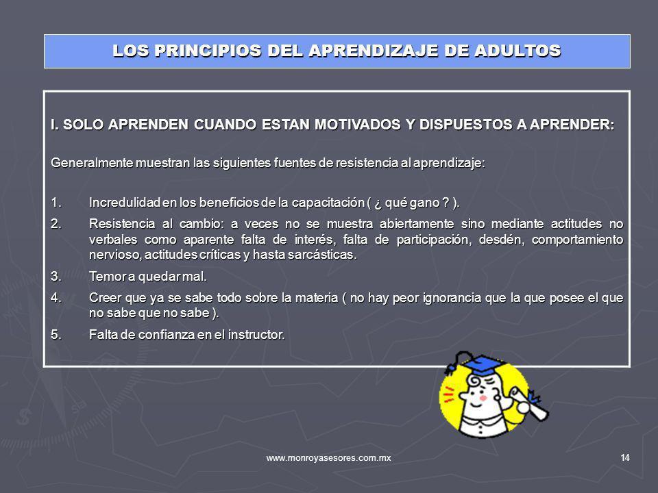 LOS PRINCIPIOS DEL APRENDIZAJE DE ADULTOS