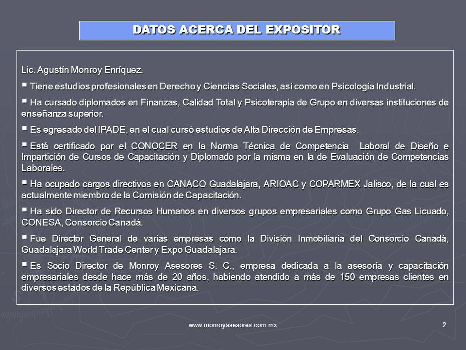 DATOS ACERCA DEL EXPOSITOR
