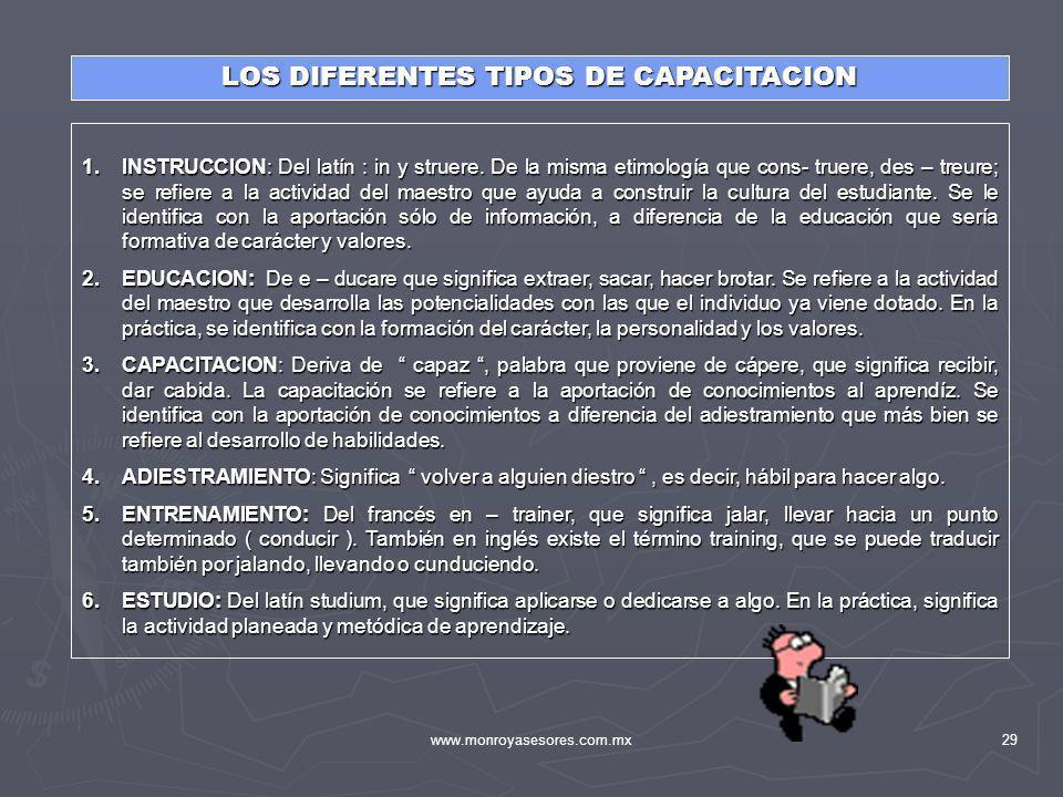 LOS DIFERENTES TIPOS DE CAPACITACION