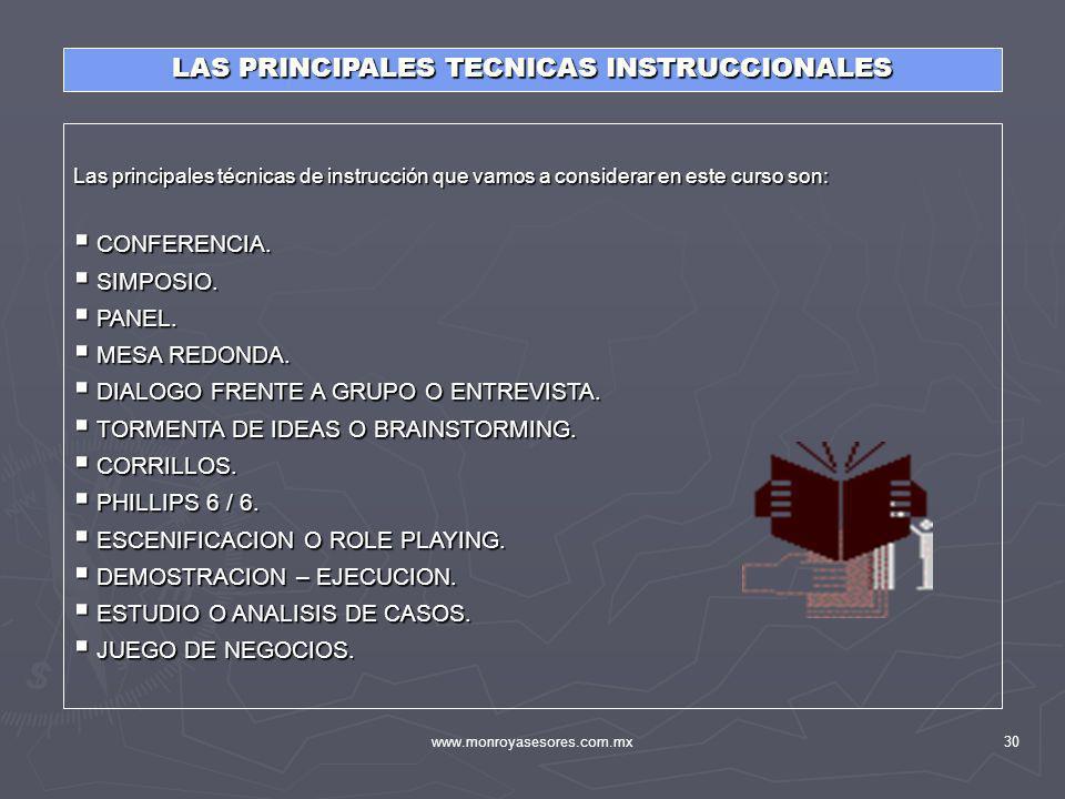 LAS PRINCIPALES TECNICAS INSTRUCCIONALES