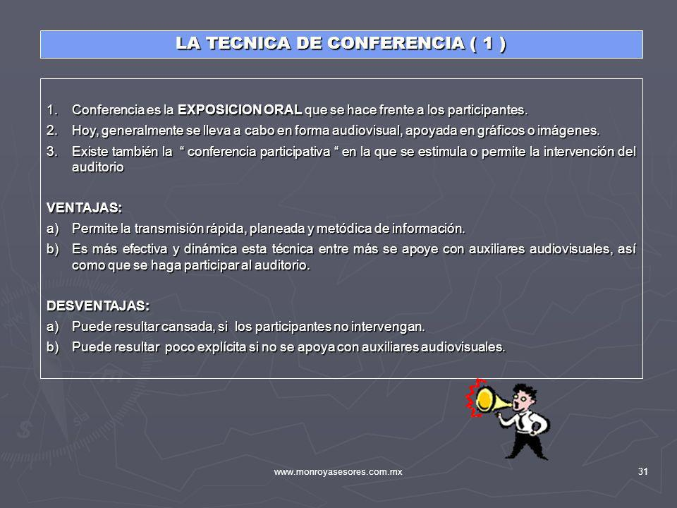 LA TECNICA DE CONFERENCIA ( 1 )