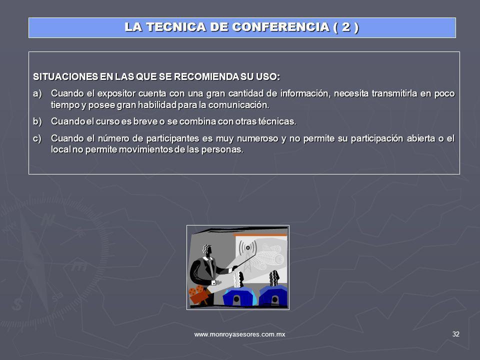 LA TECNICA DE CONFERENCIA ( 2 )