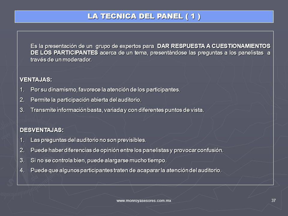 LA TECNICA DEL PANEL ( 1 )