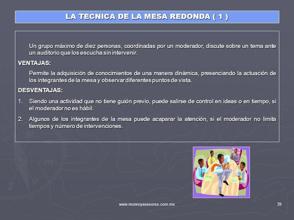 LA TECNICA DE LA MESA REDONDA ( 1 )