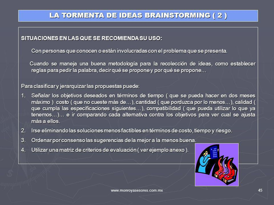 LA TORMENTA DE IDEAS BRAINSTORMING ( 2 )
