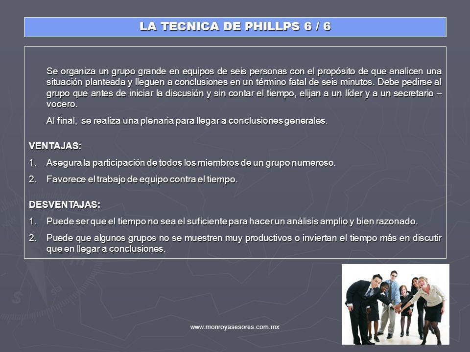 LA TECNICA DE PHILLPS 6 / 6