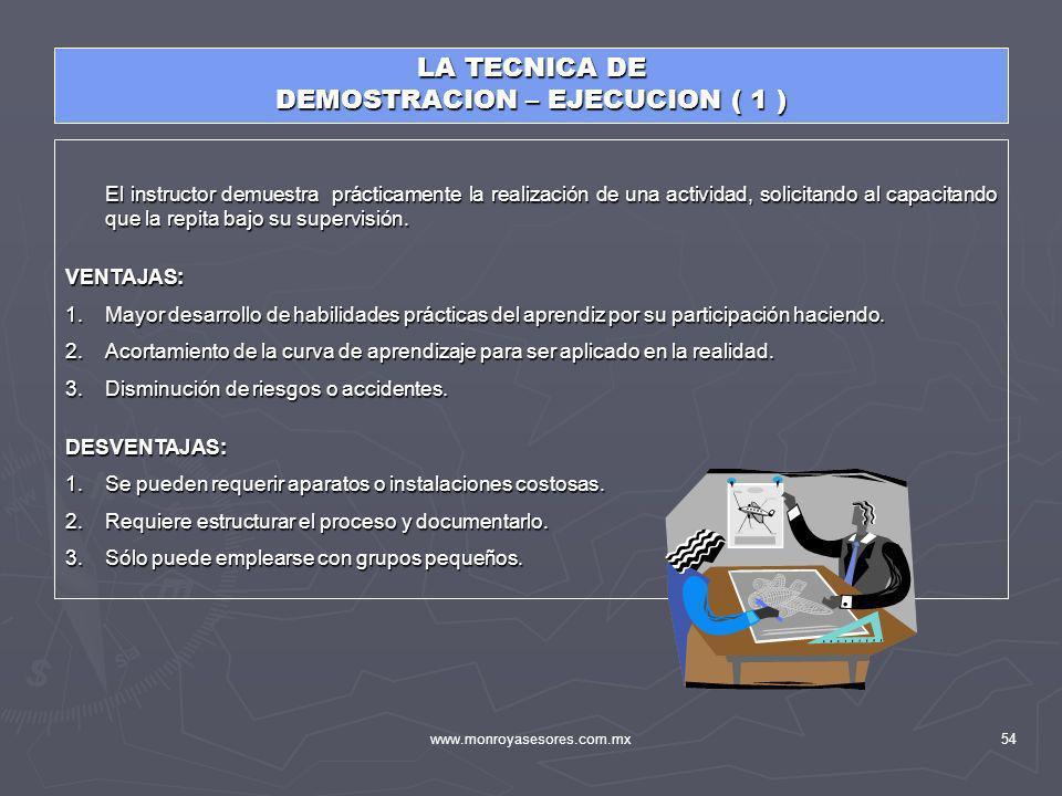 DEMOSTRACION – EJECUCION ( 1 )