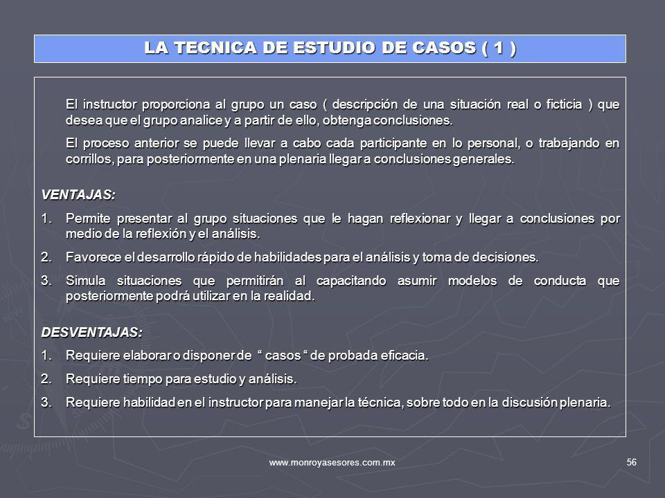 LA TECNICA DE ESTUDIO DE CASOS ( 1 )