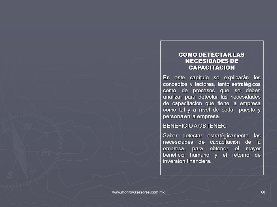 COMO DETECTAR LAS NECESIDADES DE CAPACITACION