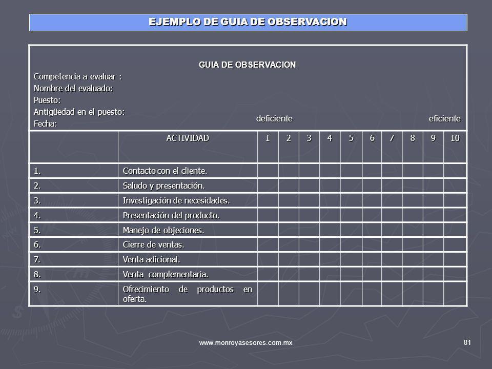 EJEMPLO DE GUIA DE OBSERVACION