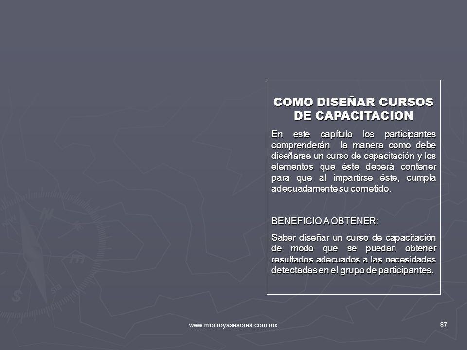COMO DISEÑAR CURSOS DE CAPACITACION