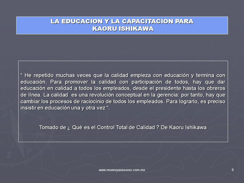 LA EDUCACION Y LA CAPACITACION PARA KAORU ISHIKAWA