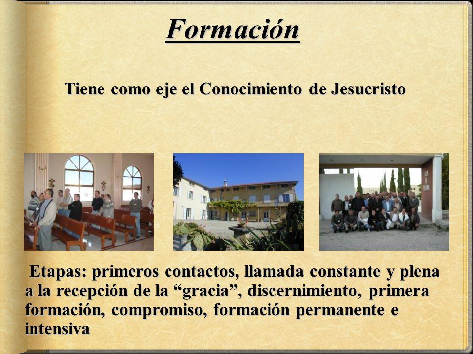 Formación Tiene como eje el Conocimiento de Jesucristo
