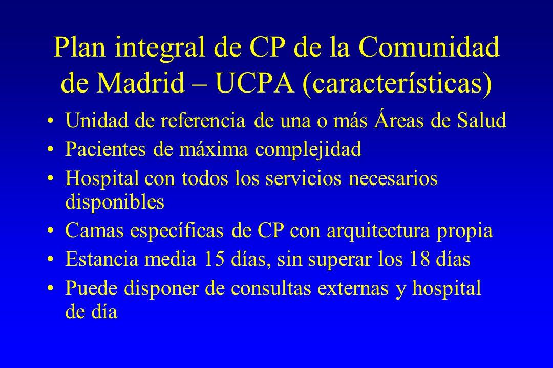 Plan integral de CP de la Comunidad de Madrid – UCPA (características)