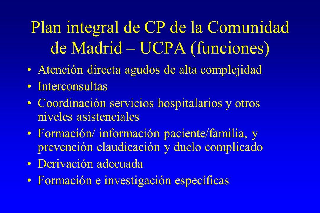 Plan integral de CP de la Comunidad de Madrid – UCPA (funciones)