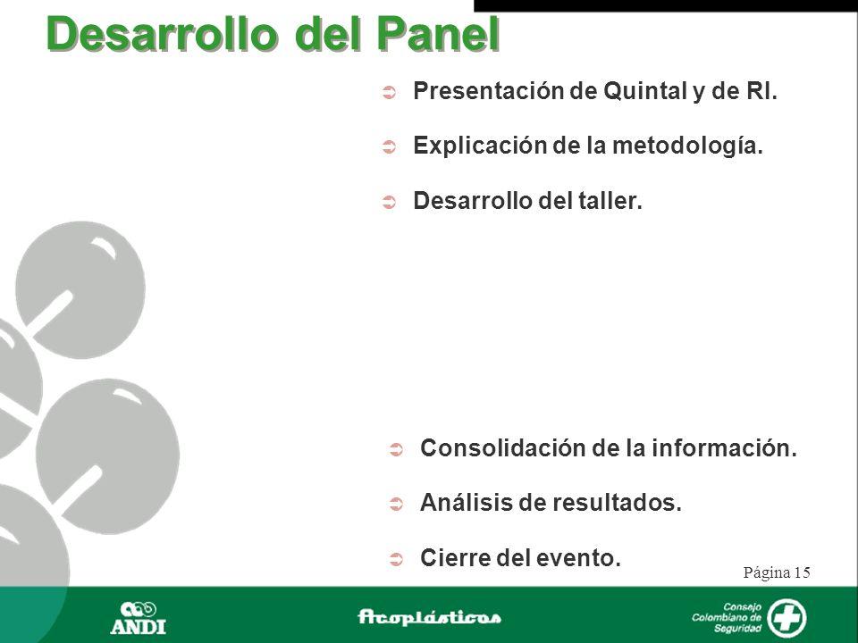 Desarrollo del Panel Presentación de Quintal y de RI.