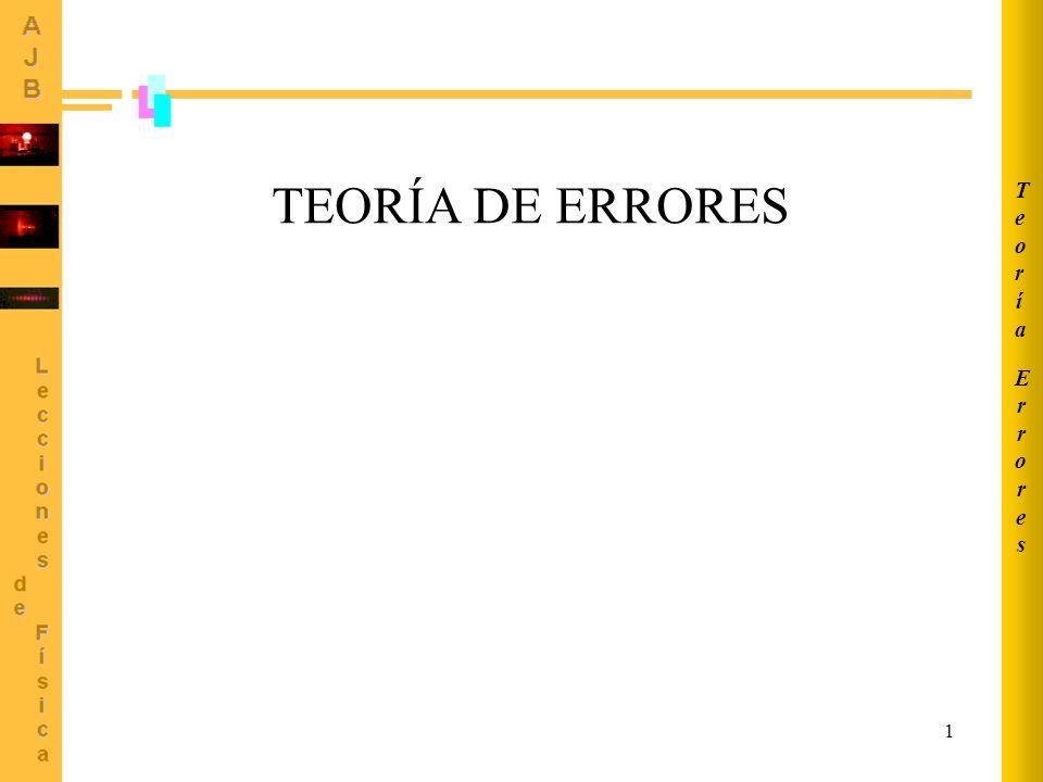 Errores Teoría TEORÍA DE ERRORES