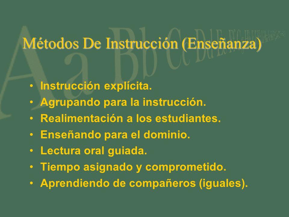 Métodos De Instrucción (Enseñanza)