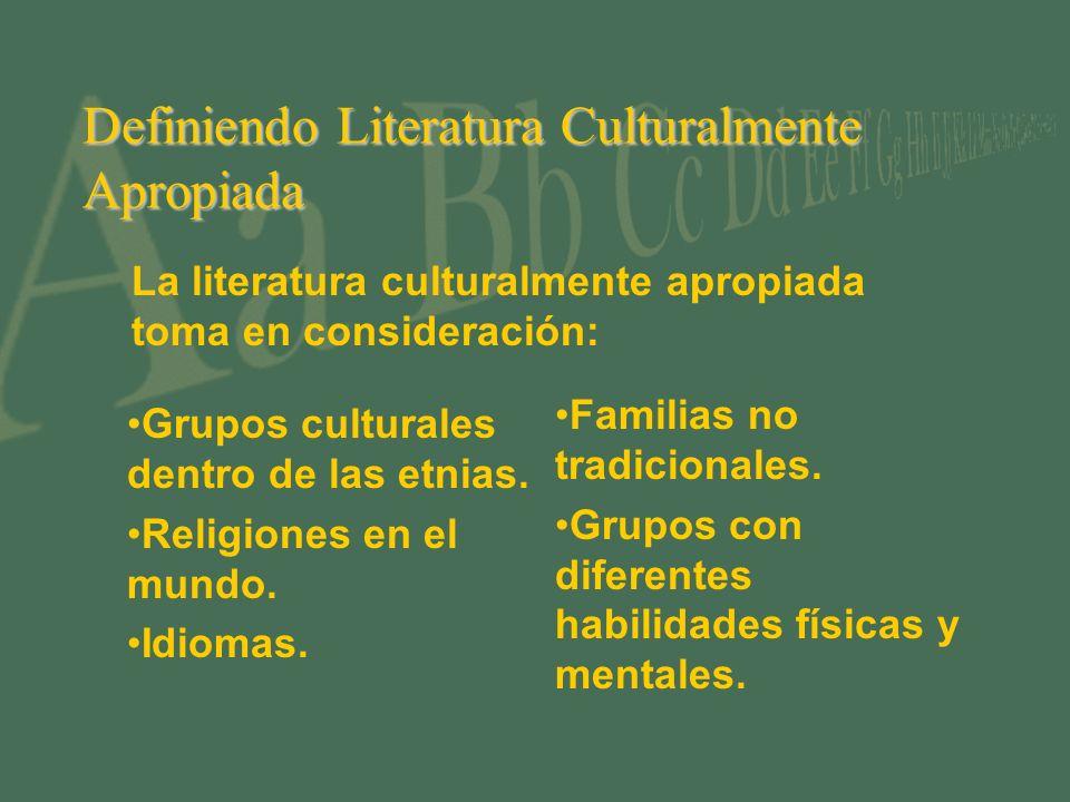 Definiendo Literatura Culturalmente Apropiada