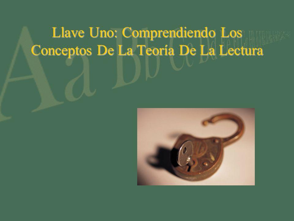 Llave Uno: Comprendiendo Los Conceptos De La Teoría De La Lectura