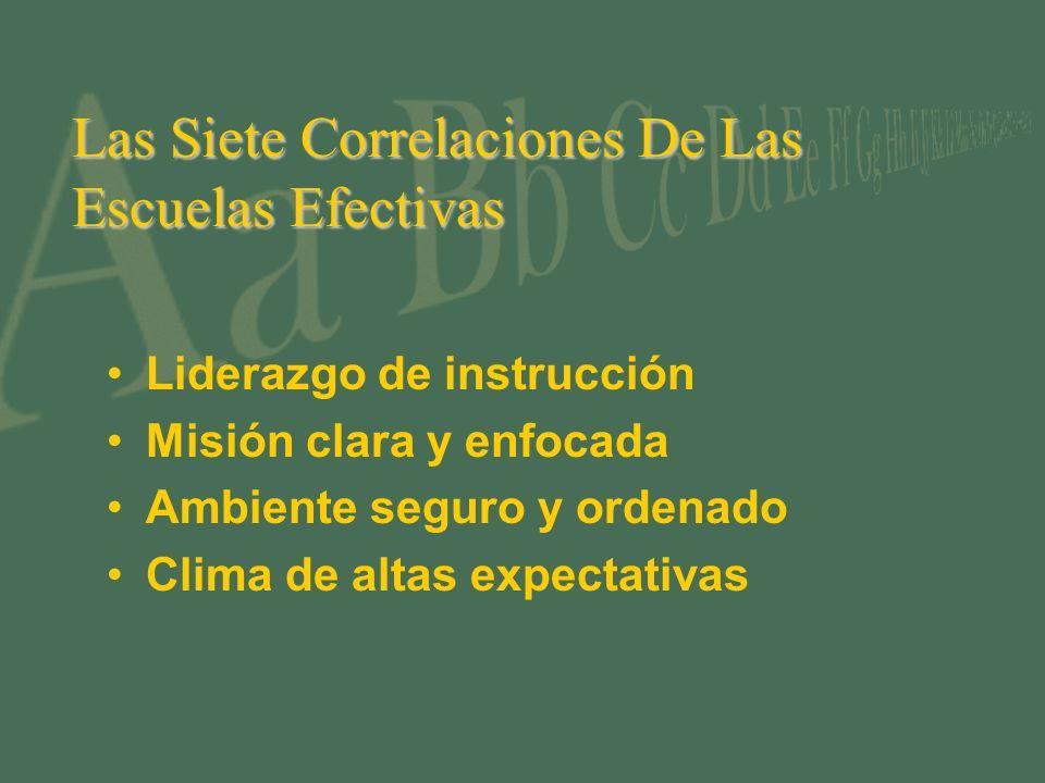 Las Siete Correlaciones De Las Escuelas Efectivas