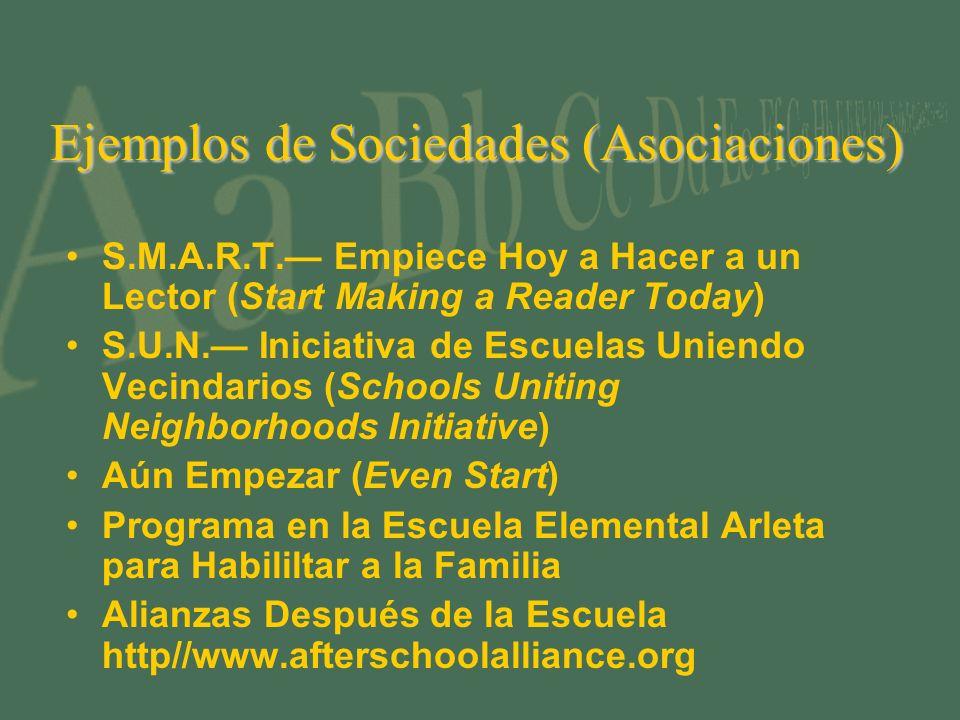 Ejemplos de Sociedades (Asociaciones)