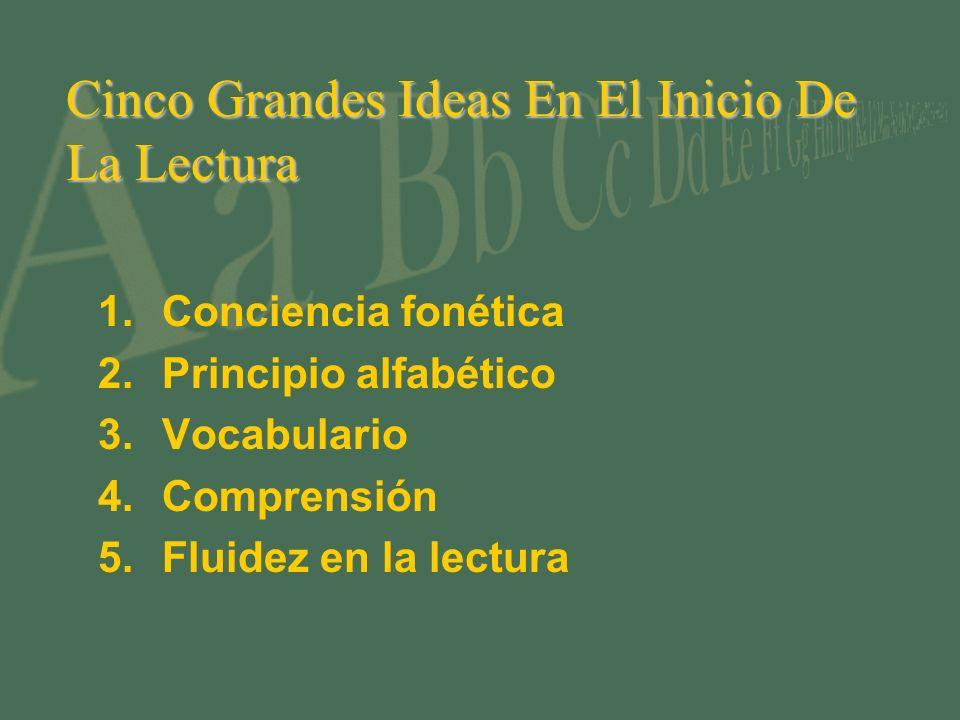 Cinco Grandes Ideas En El Inicio De La Lectura