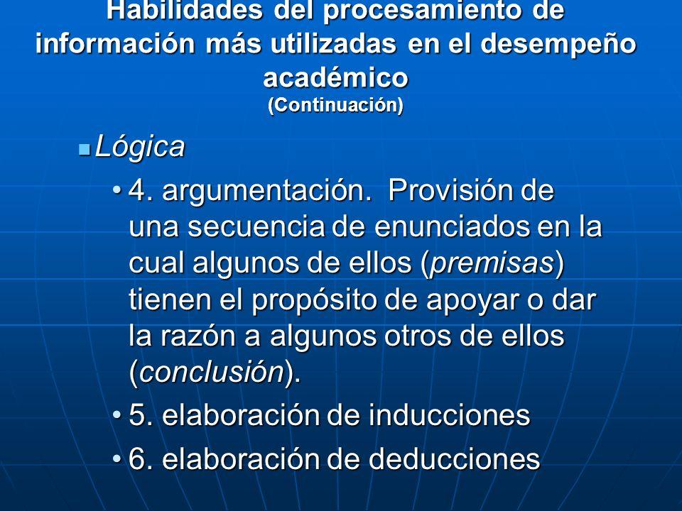 5. elaboración de inducciones 6. elaboración de deducciones