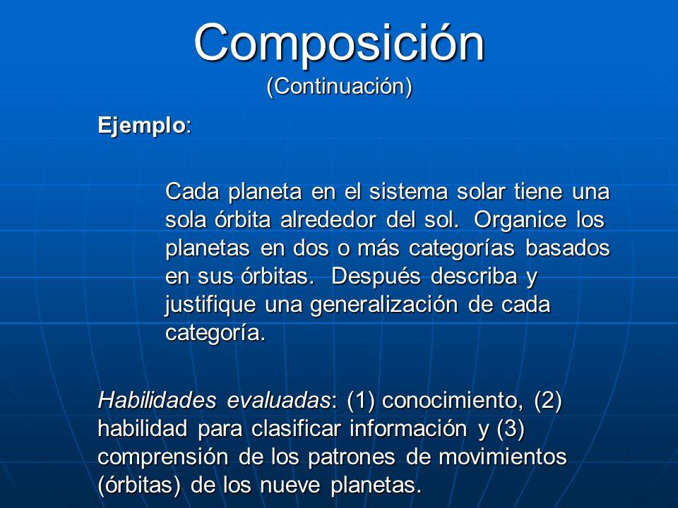 Composición (Continuación)