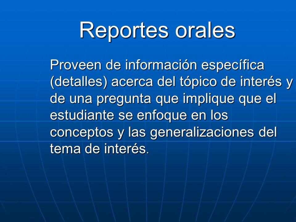 Reportes orales