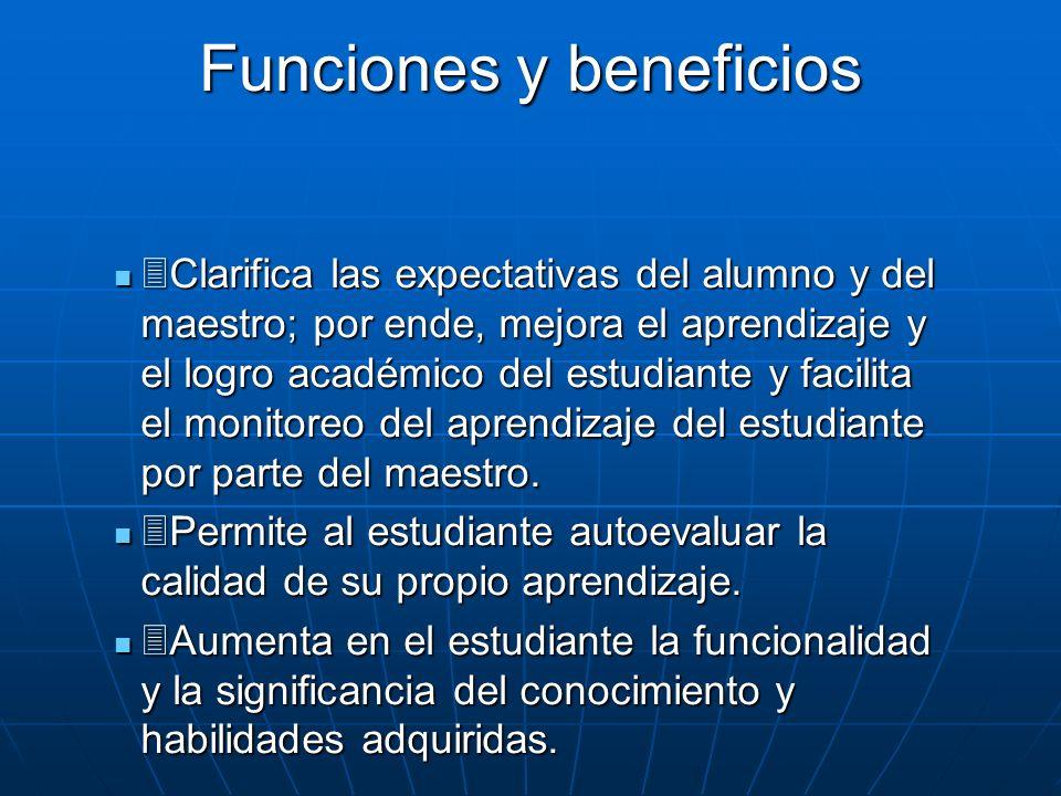 Funciones y beneficios