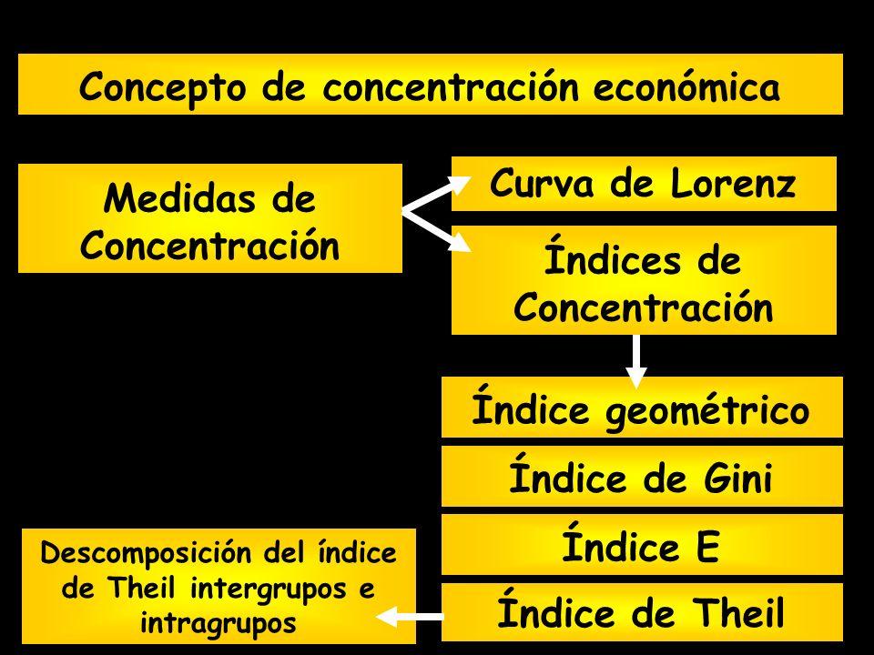 Concepto de concentración económica