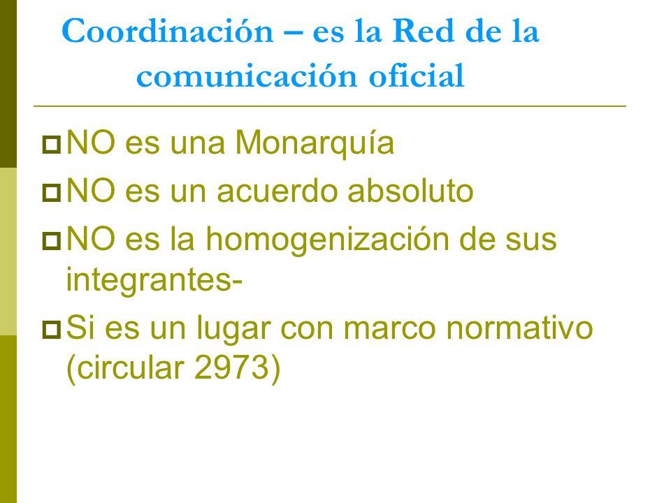 Coordinación – es la Red de la comunicación oficial