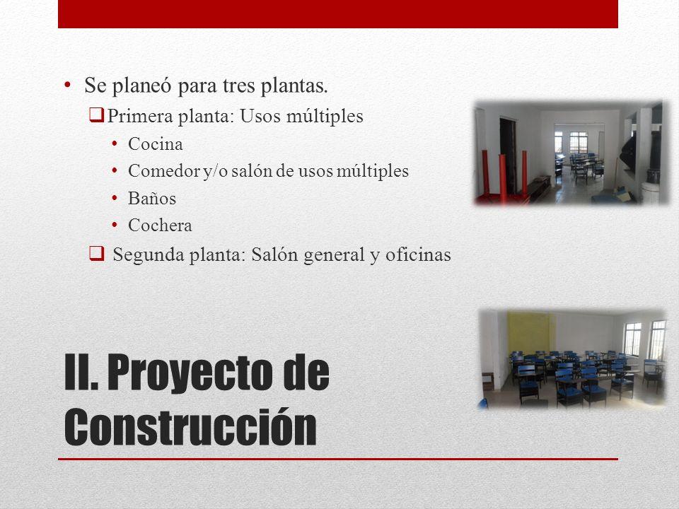 II. Proyecto de Construcción