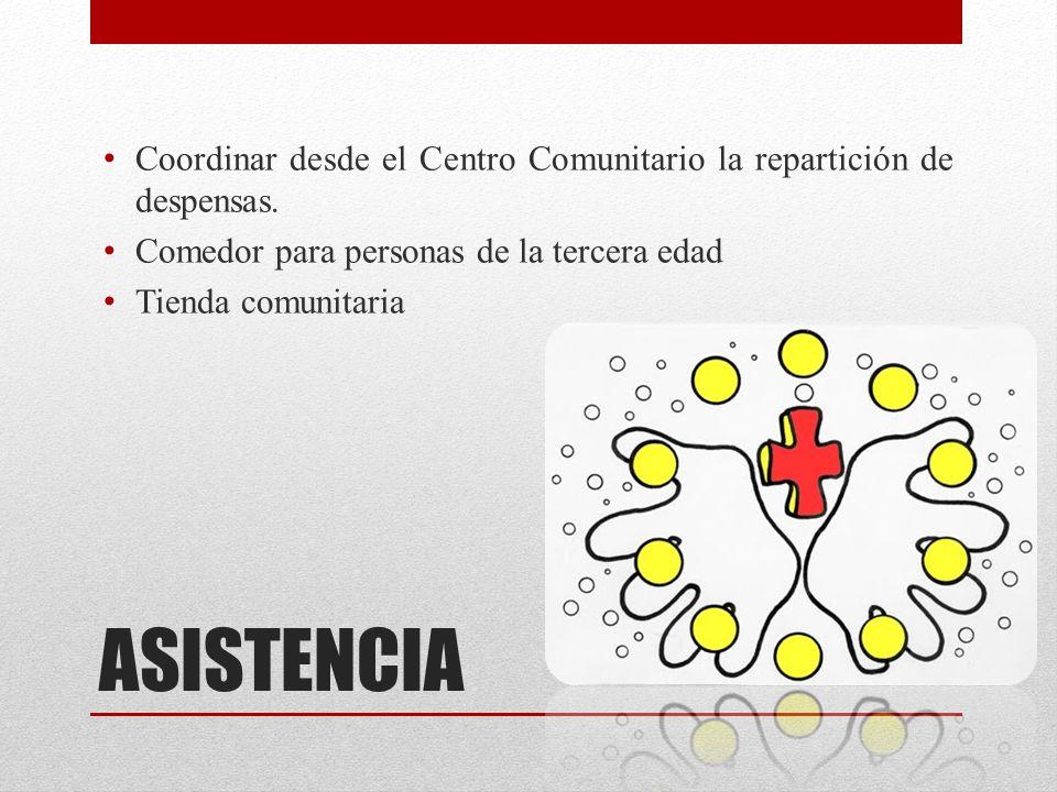 Coordinar desde el Centro Comunitario la repartición de despensas.