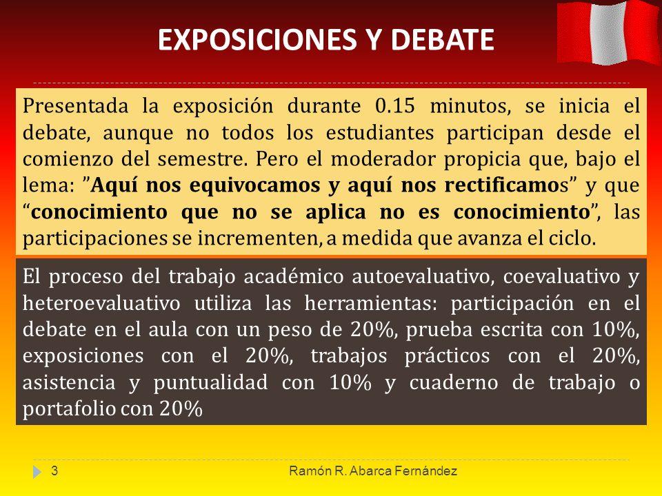 EXPOSICIONES Y DEBATE