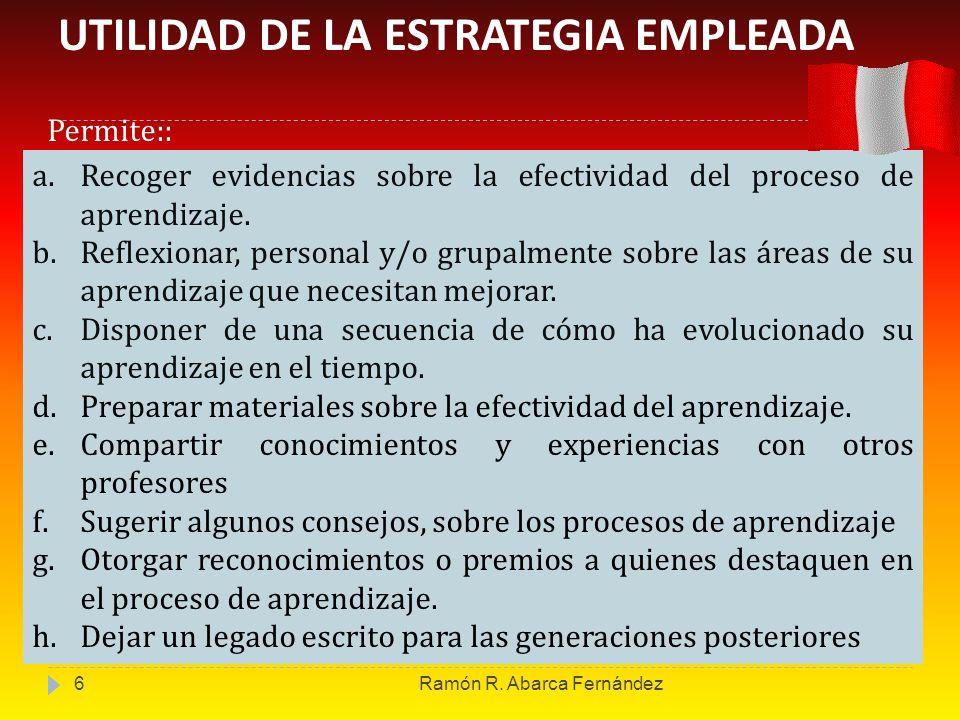 UTILIDAD DE LA ESTRATEGIA EMPLEADA