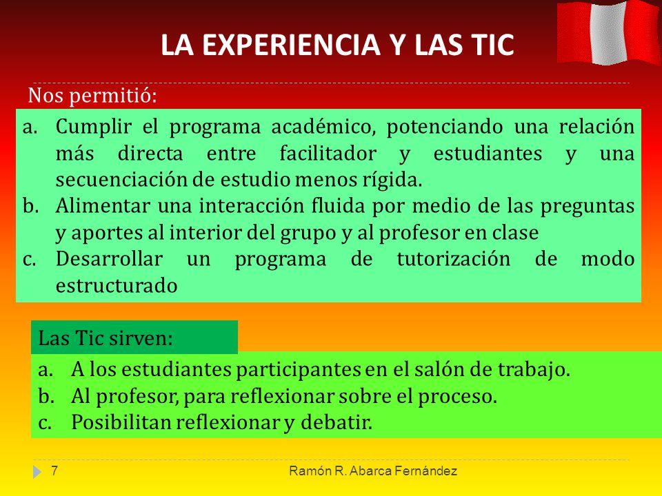 LA EXPERIENCIA Y LAS TIC