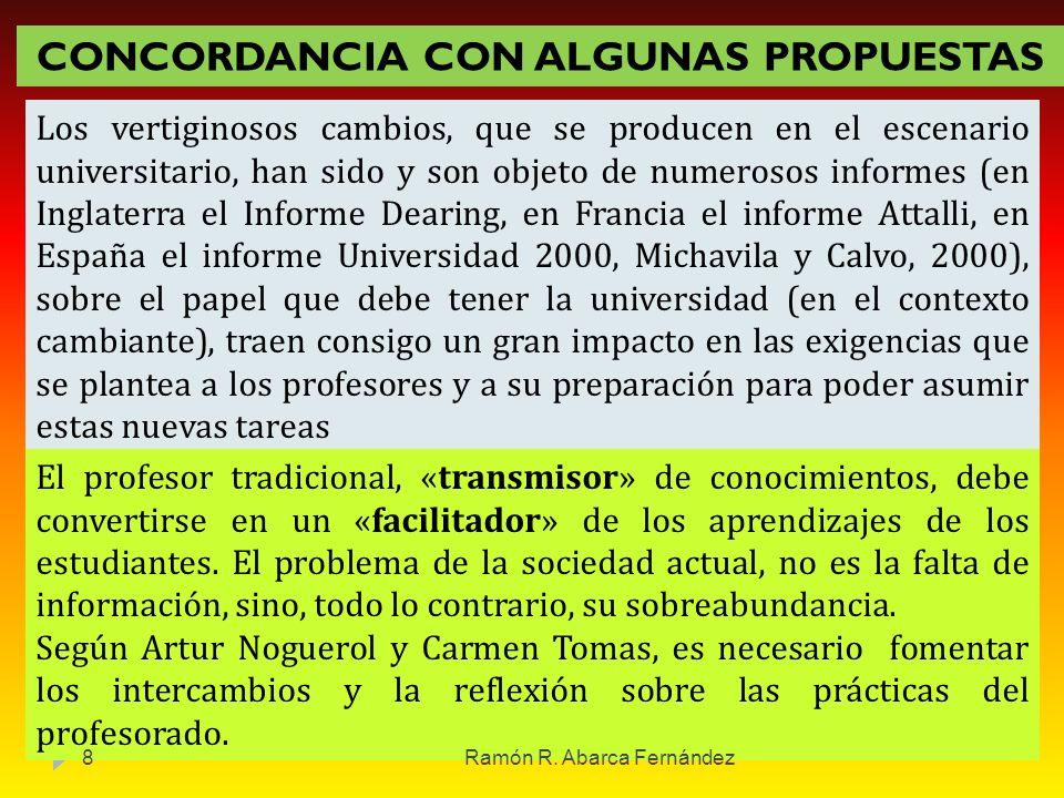 CONCORDANCIA CON ALGUNAS PROPUESTAS