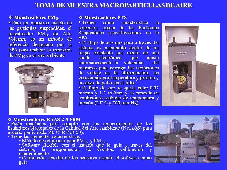 TOMA DE MUESTRA MACROPARTICULAS DE AIRE