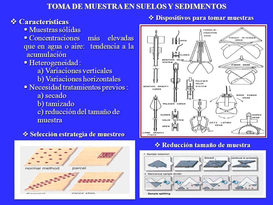 TOMA DE MUESTRA EN SUELOS Y SEDIMENTOS