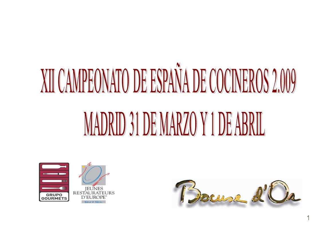 XII CAMPEONATO DE ESPAÑA DE COCINEROS 2.009