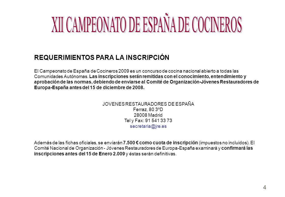 XII CAMPEONATO DE ESPAÑA DE COCINEROS