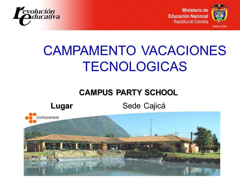 CAMPAMENTO VACACIONES TECNOLOGICAS
